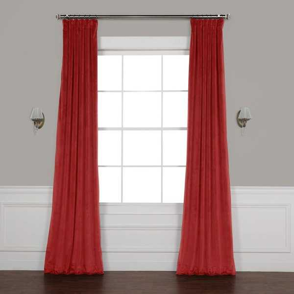 Exclusive Fabrics Heritage Plush Velvet Curtain