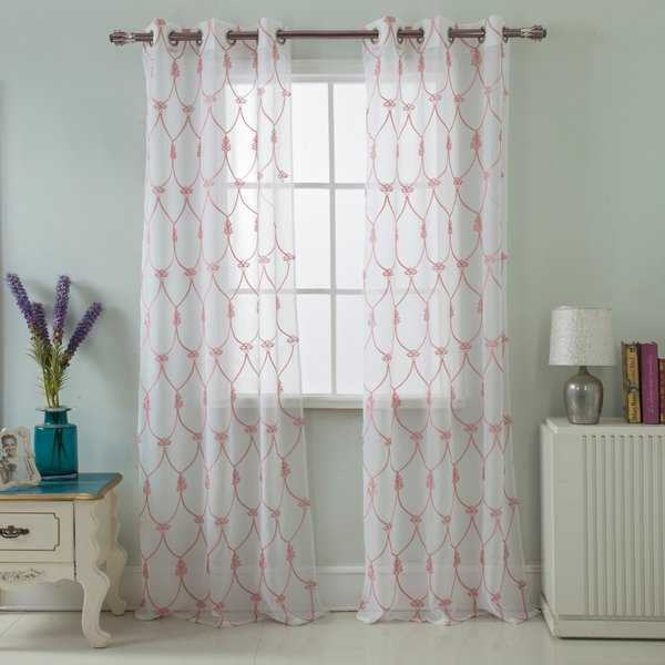 RT Designers Westgate Embroidered 84 Inch Grommet Curtain Panel Pair