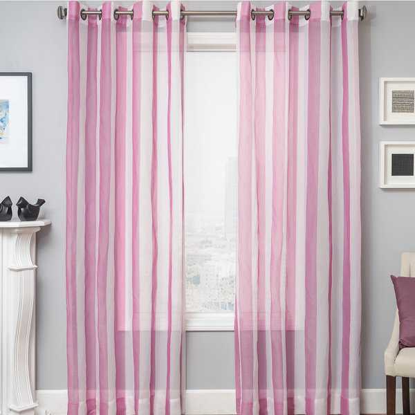 Softline Milbrey Stripe Grommet Top Sheer Curtain Panel