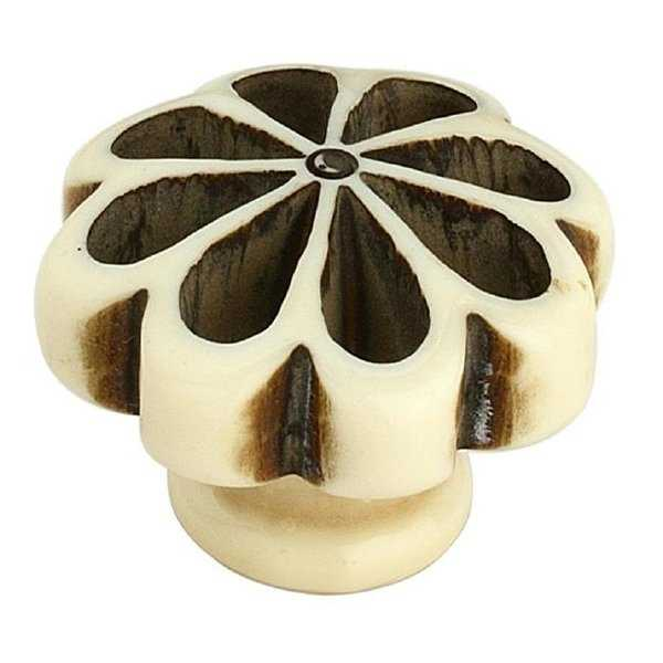Mascot Hardware 1.3 in. Crafted Cream Cabinet Knob, Pack of 5