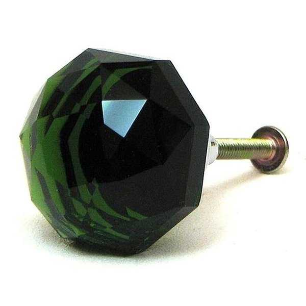 IWGAC 0170S-HO14G Large Green Solid Crystal Glass Drawerdoor Pull