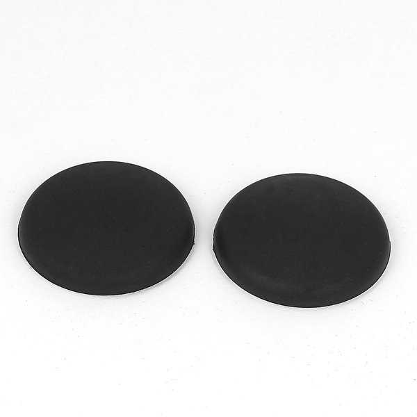 Unique Bargains Black Rubber Adhesive Wall Guard Door Handle Bumper Stopper Protector 2pcs
