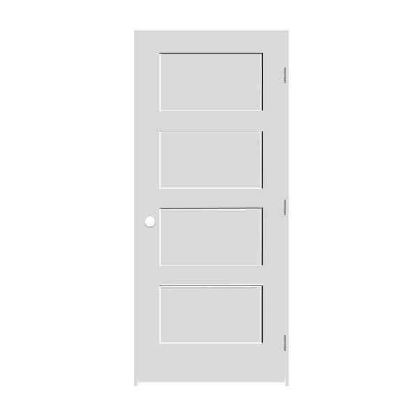 Trimlite 2268138-8444LH156916 26' by 80' Shaker 4-Panel Left Handed Interior Pre - Primed - N/A