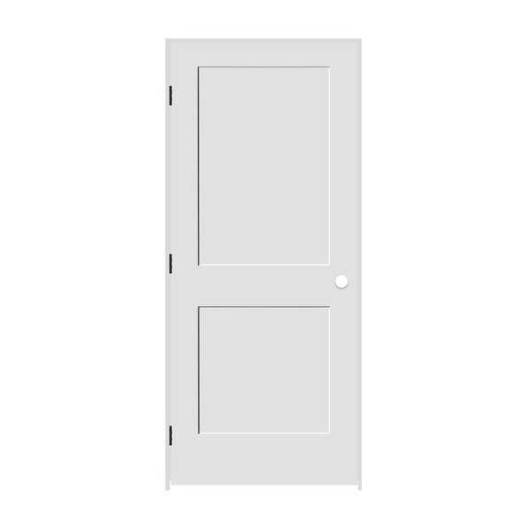 Trimlite 2168138-8402RH10B714 34' by 80' Shaker 2-Panel Right Handed Interior Pr - Primed - N/A