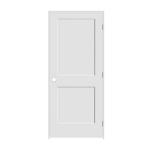 Trimlite 2068138-8402LH26D714 24' by 80' Shaker 2-Panel Left Handed Interior Pre - Primed - N/A
