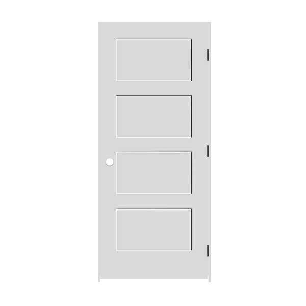 Trimlite 2068138-8444LH1D4916 24' by 80' Shaker 4-Panel Left Handed Interior Pre - Primed - N/A