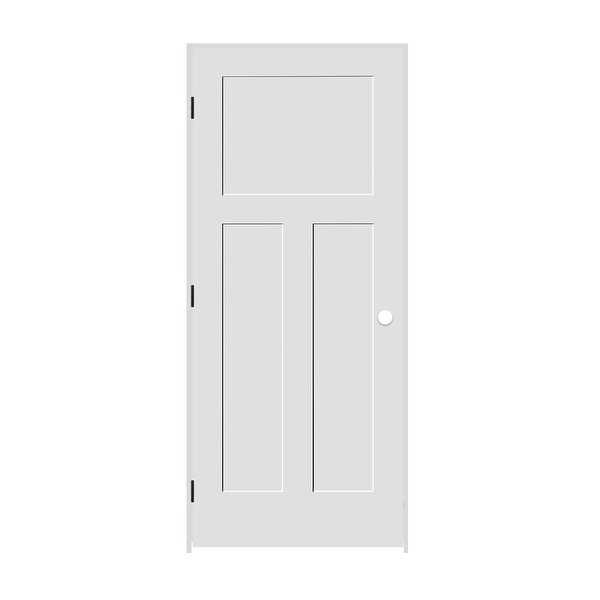 Trimlite 2068138-8403RH1D4916 24' by 80' Shaker 1+2-Panel Right Handed Interior - Primed - N/A