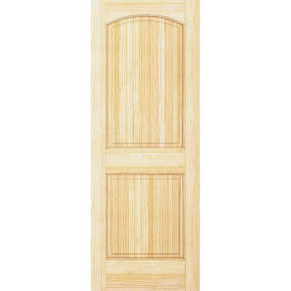 Frameport COL-PD-DAT-8X2-1/2 Colonial 30' by 96' Double Hip Arch Top 2 Panel Interior Passage Door - Unfinished